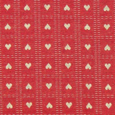 Weihnachtsstoff Herzchen – karminrot