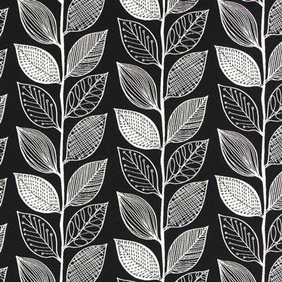 Tessuti arredo piante nero su - Tessuti fiorati ...