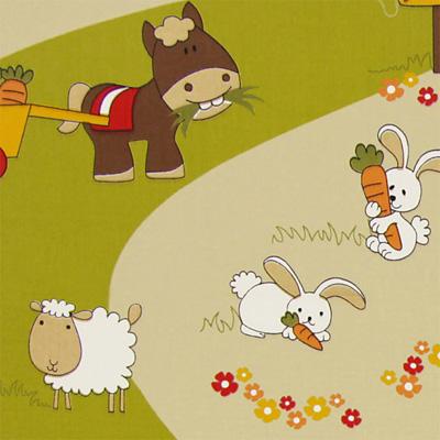 Tessuti bambino con animali