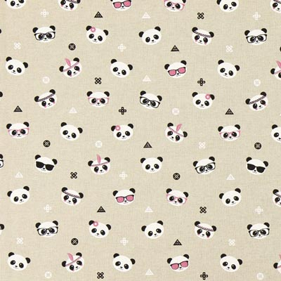 Furnishing Fabric – Panda Bears