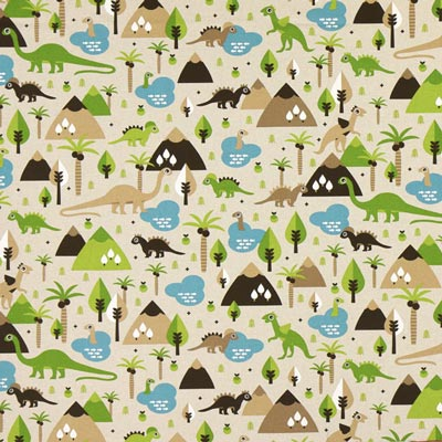 Furnishing Fabric Nature – Dinosaurs