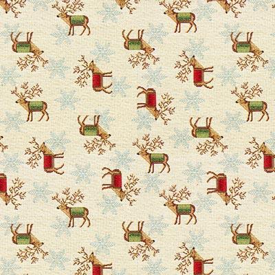Tela navideña invierno – beige claro