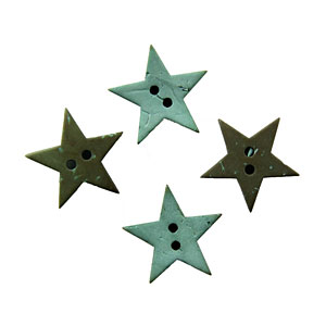 Novos botões de coco em forma de estrelas