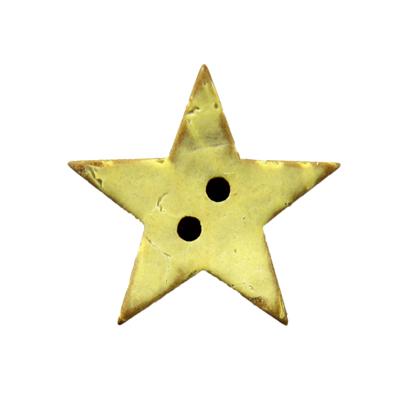 Nové kokosové knoflíky ve tvaru hvězdičky v obchodě