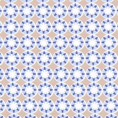 Jersey Portofino Bloemen 2 – jeansblauw, Gütermann