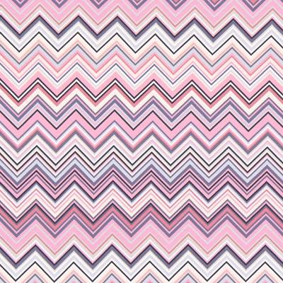 Jersey Portofino Zigzag 1 – roze/blauw | Gütermann