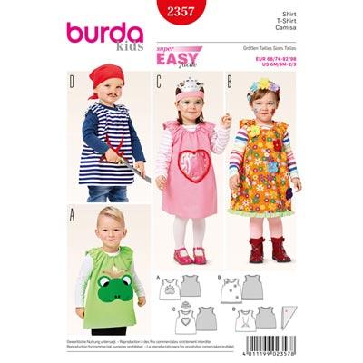 Shirt, Burda 2357 | 68 - 98
