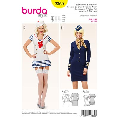 Stewardess/Matrosin, Burda 2360