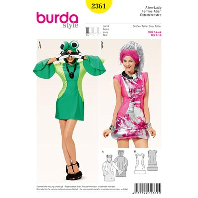 Alien-Lady, Burda 2361