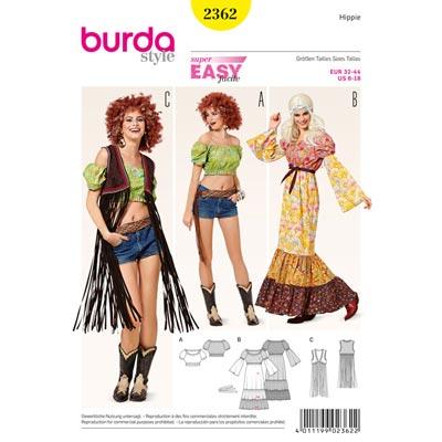 Hippie 70er, Burda 2362 | 32 - 44