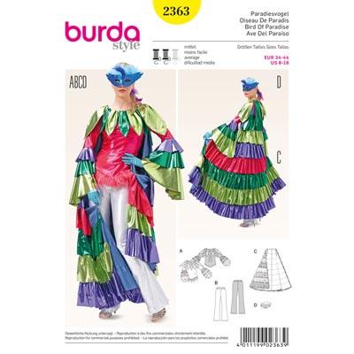 Paradiesvogel, Burda 2363 | 34 - 44