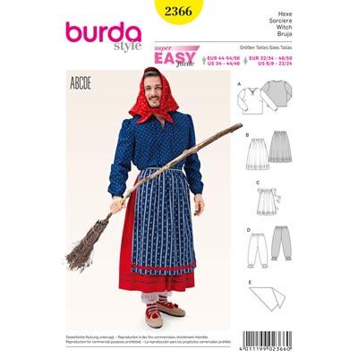 Hexe, Burda 2366 | 32–50 | 44 - 56