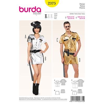 Polizei, Burda 2375 | 32 - 42 | 44 - 54