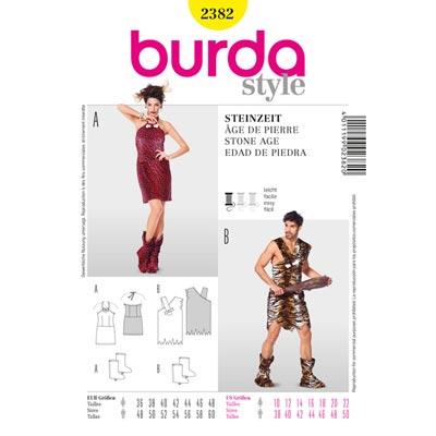 Steinzeit – Kleid | Shirt | Stulpen, Burda 2382 | 36 - 48