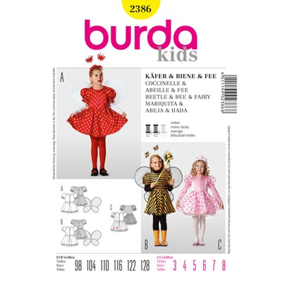 Käfer | Biene | Fee, Burda 2386 | 98 - 128