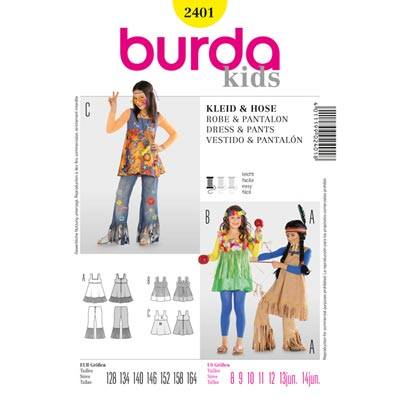 Indianerin / Hippie, Burda 2401