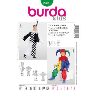 Eulenspiegel | Bajazzo, Burda 2406 | 98 - 128
