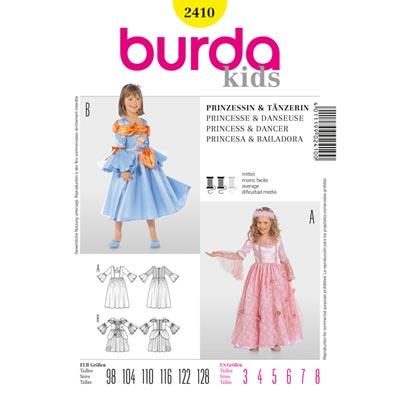 Prinzessin | Tänzerin, Burda 2410 | 98 - 128.