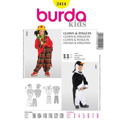Pinguin | Clown, Burda 2414 | 98 - 128