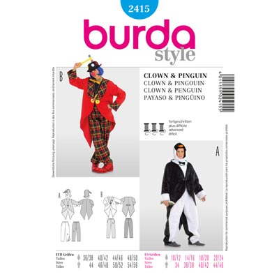 Pinguin | Clown, Burda 2415 | 36 - 56