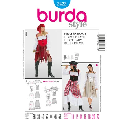 Piratenbraut, Burda 2422 | 36 - 48