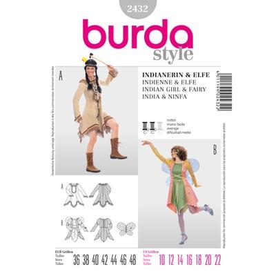Indianerin | Elfe, Burda 2432 | 36 - 48