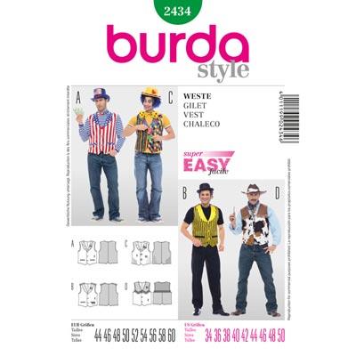 Weste, Burda 2434 | 44 - 60