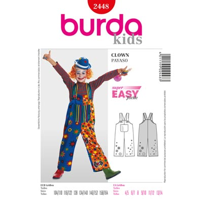 Clown, Burda 2448 | 104 - 164