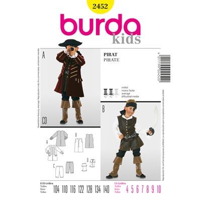 Pirat, Burda 2452 | 104 - 140