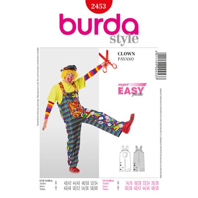 Clown, Burda 2453 | 40 - 60