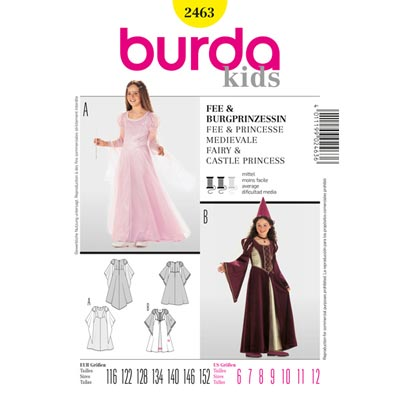 Fee | Burgprinzessin, Burda 2463 | 116 - 152