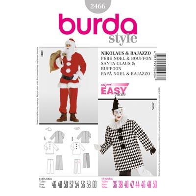 Nikolaus | Bajazzo, Burda 2466 | 46 - 60