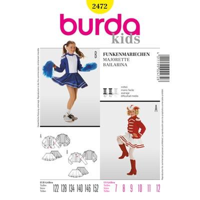 Funkenmariechen, Burda 2472 | 122 - 152