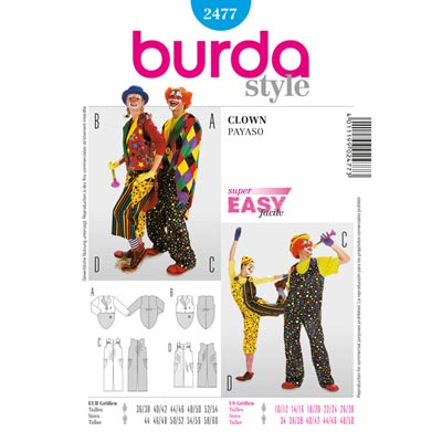 Clown, Burda 2477 | 44 - 60 | 36 - 54