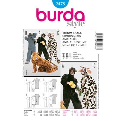 Tieroveralls, Burda 2478 | 44 - 56