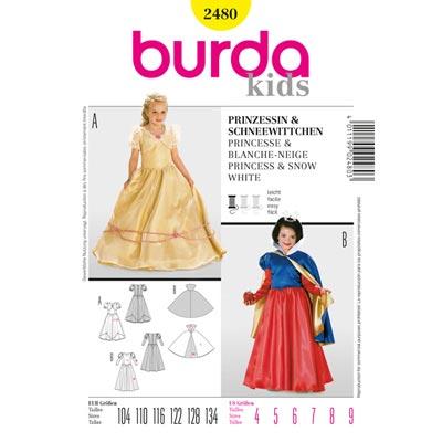 Prinzessin | Schneewittchen, Burda 2480 | 104 - 134
