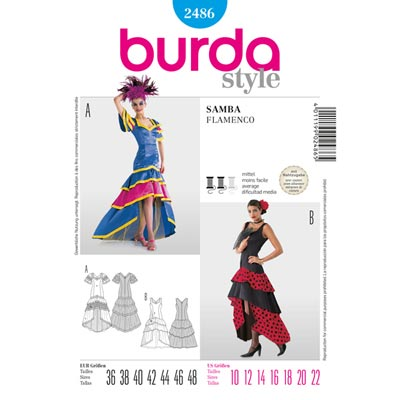 Kleid, Burda 2486 | 36 - 48