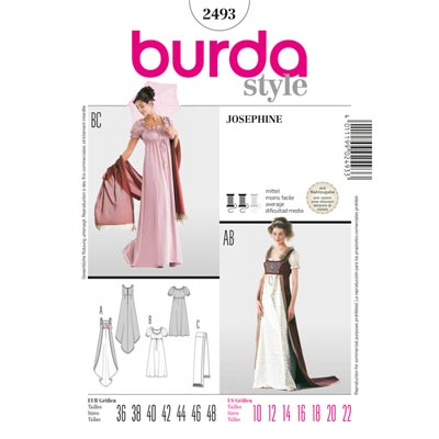 Kleid, Burda 2493 | 36 - 48