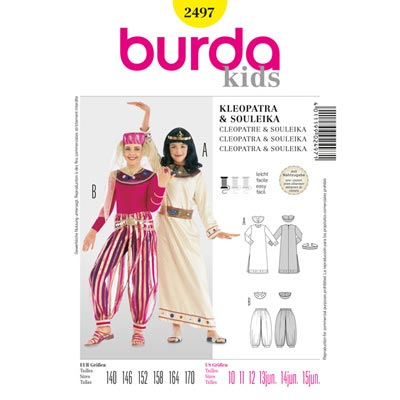 Kombination, Burda 2497 | 140 - 170