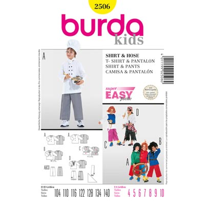 Kinderkostüm Pirat / Koch etc, Burda 2506
