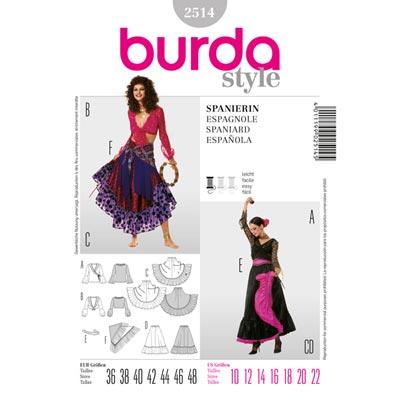 Carmen | Zigeunerin, Burda 2514 | 36 - 48