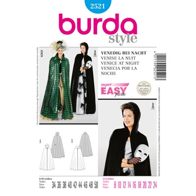 Cape – Karneval in Venedig, Burda 2521