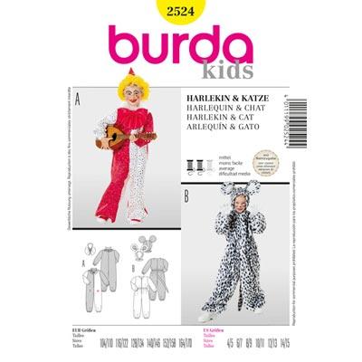 Harlekin | Katze, Burda 2524 | 104 - 170