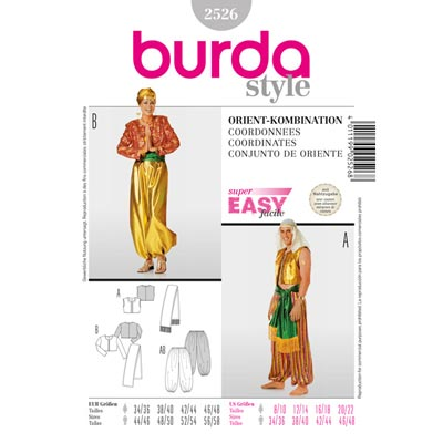 Orient-Kombination, Burda 2526 | 44 - 58 | 34 - 48