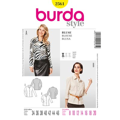 Bluse, Burda 2561 | 34 - 46