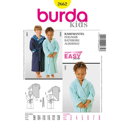 Bademantel, Burda 2662 | 98 - 128
