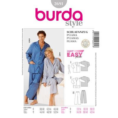 Schlafanzug, Burda 2691 | 38 - 48