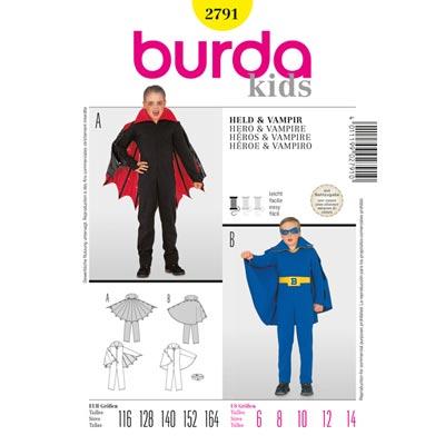 Batboy | Vampir, Burda 2791 | 116 - 164