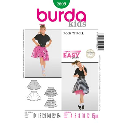 Rock'n Roll, Burda 2809 | 104 - 164