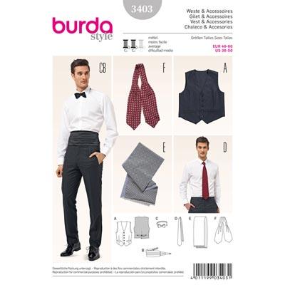 Weste | Accessoires, Burda 3403 | 46 - 60